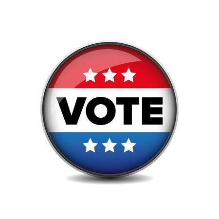 suffrage: US Vote badge