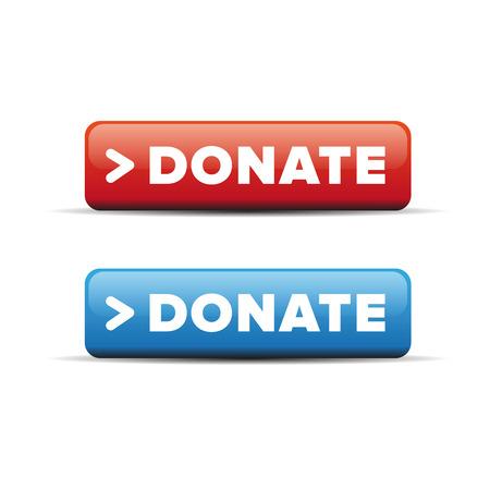 voluntary: Donate button vector