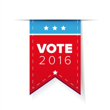 US Vote ribbon vector Illustration