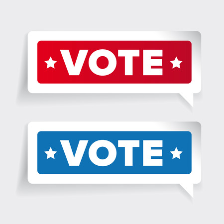 civic: US Vote badge vector Illustration