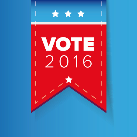 patriotic: US Vote ribbon vector Illustration