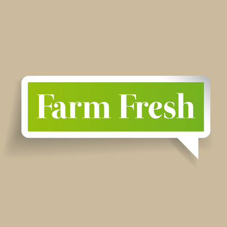 farm fresh: Farm fresh vector label