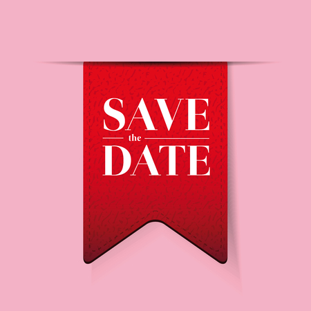 monumental: Save the date ribbon