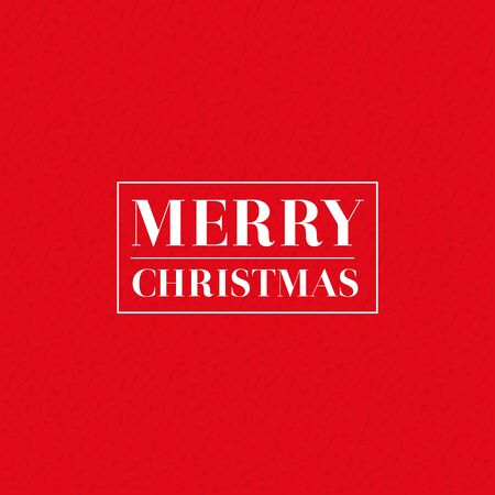 christmas red: Merry Christmas vector lettering