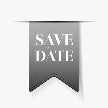tearaway: Save the date ribbon vector