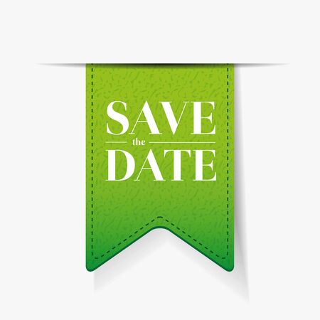 monumental: Save the date ribbon vector