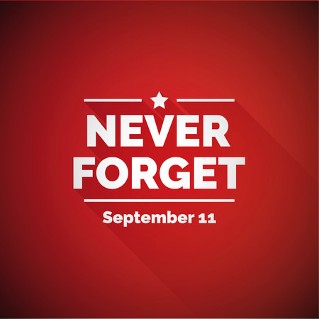 Never forget 911 concept