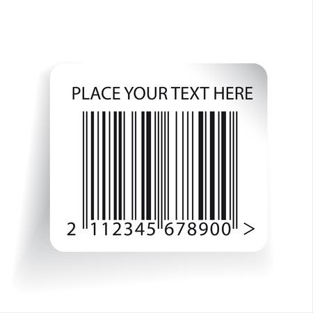 ean: Barcode label template vector