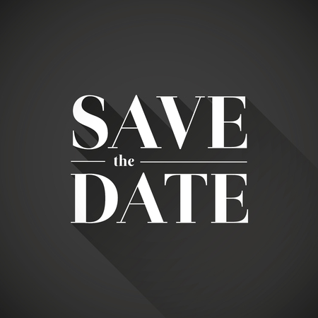 tearaway: Save the date vector lettering