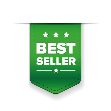 seller: Best Seller green ribbon vector