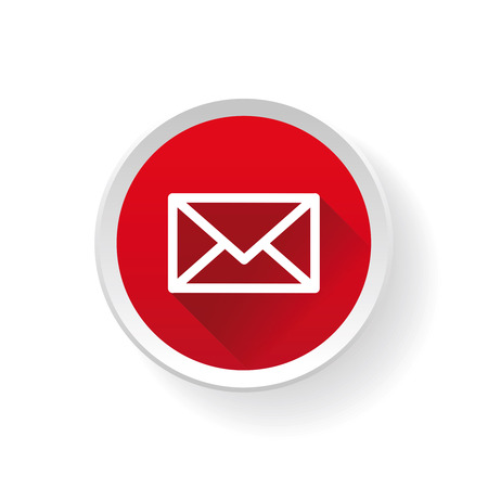 Email vector icon on button