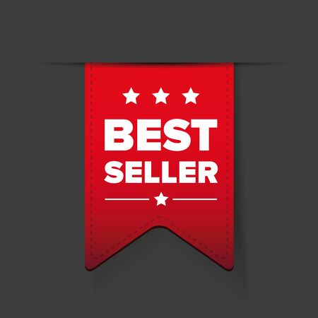 ribbon red: Best seller ribbon red vector