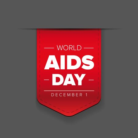 in december: World AIDS Day - December 1 red ribbon