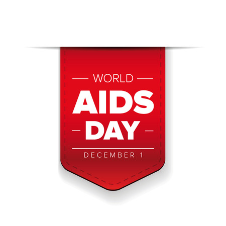 World AIDS Day - December 1 red ribbon