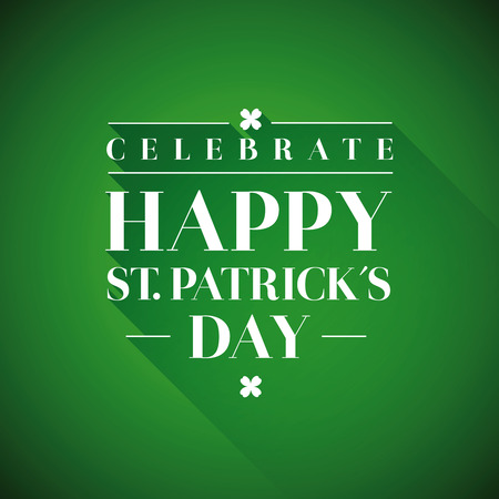 leafed: Saint Patricks Day Typographical background