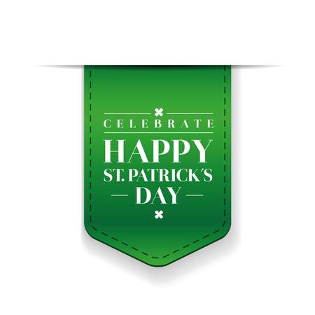 leafed: Saint Patricks Day Typographical ribbon