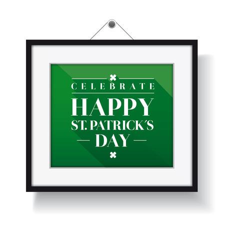Saint Patricks Day Typographical frame