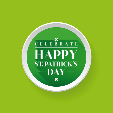 four leafed: Saint Patricks Day Typographical button