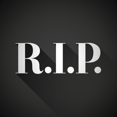 rest in peace: R,I.P. Rest in peace vector Illustration