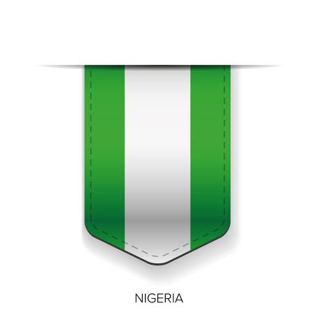 anthem: Nigeria flag ribbon vector Illustration