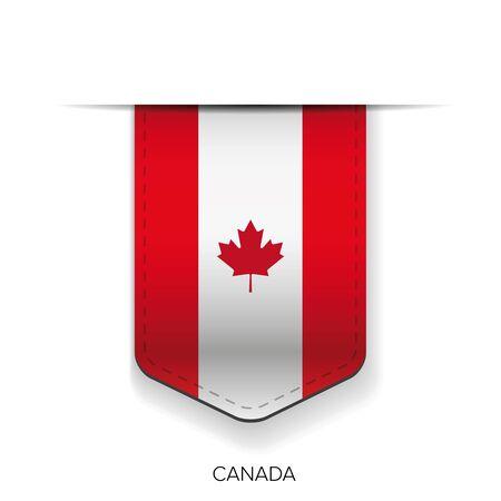 nationalities: Canada flag ribbon vector