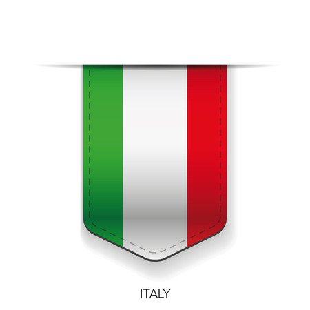 Italy flag ribbon vector
