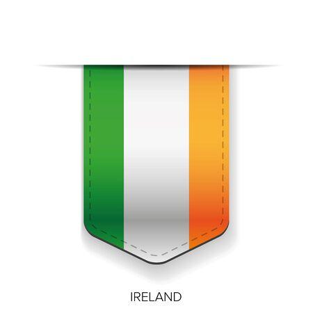 bandera irlanda: Irlanda del vector de la cinta del indicador