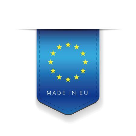 eu: Made in EU ribbon vector
