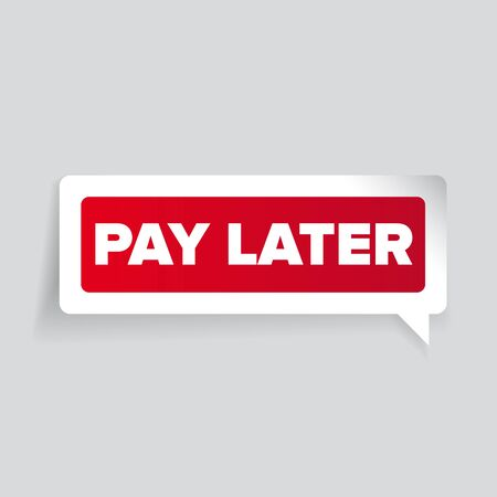 later: Pay later label vector Illustration
