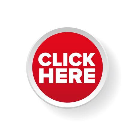 click: Klik hier knop vector