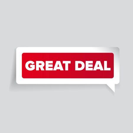great deal: Great deal label vector