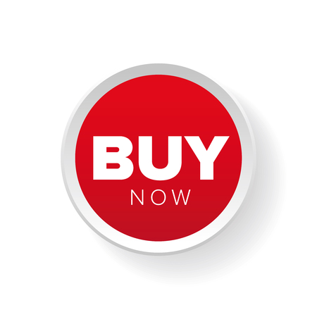 acquire: Buy now button red vector Illustration