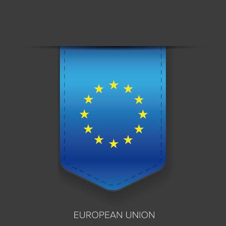 eu: EU flag ribbon vector
