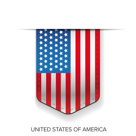 vector raster background: United states flag ribbon vector