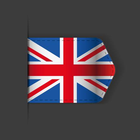 uk: UK flag ribbon vector