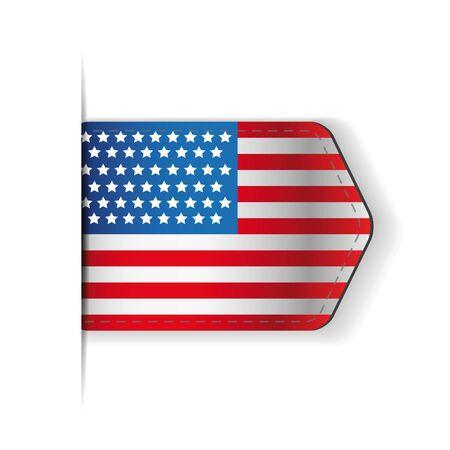 vector raster background: USA flag ribbon vector