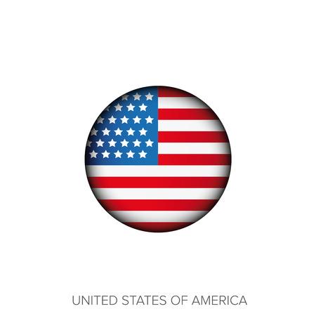 forth: USA flag vector