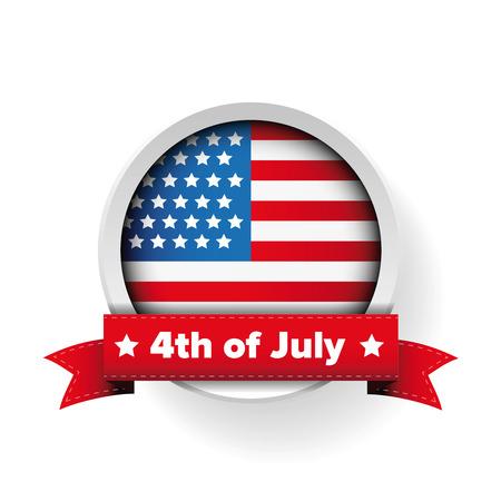 7 월 4 일 - 미국 국기 일러스트