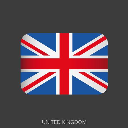 uk: UK flag button vector