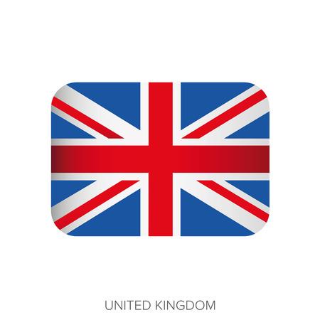 flag button: UK flag button vector