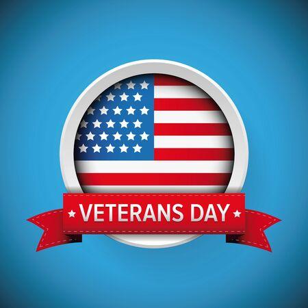 honoring: Veterans Day. Honoring all who served. Usa flag vector
