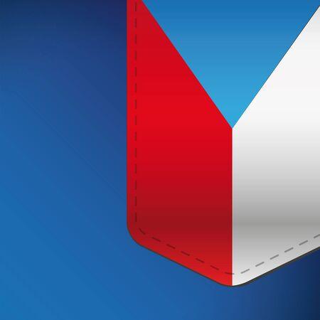 czech flag: Czech flag ribbon vector