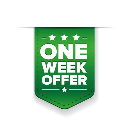 week: One Week Offer ribbon vector