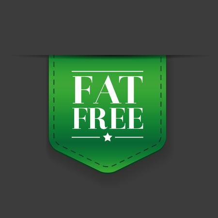 lowfat: Fat free ribbon vector