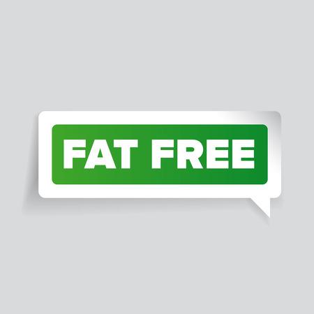 lowfat: Fat free label vector