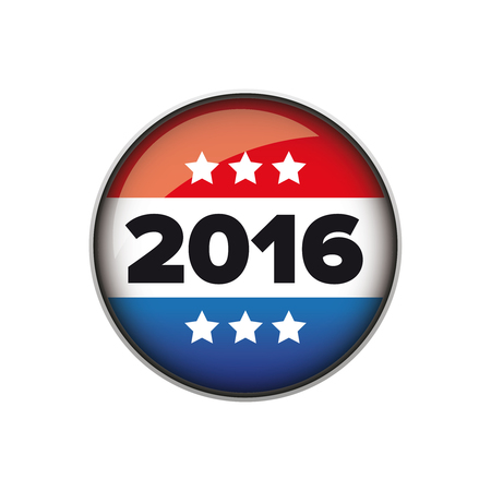 nomination: Vote 2016 badge or button vector