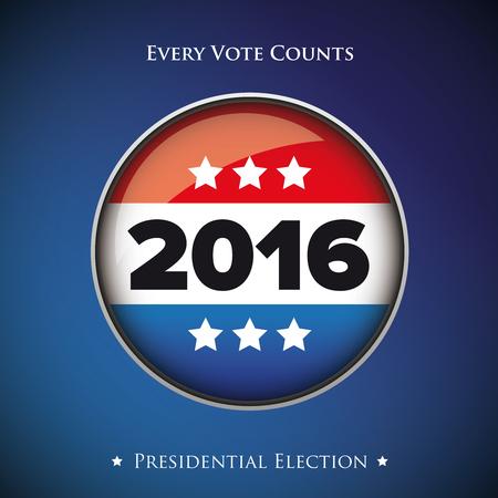 Presidential election 2016 banner or poster Illustration
