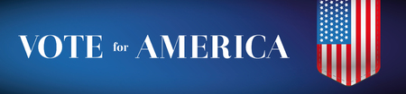 democrats: Vote for America banner or poster vector