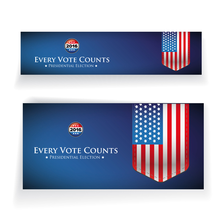 Presidential election 2016 banner or poster Ilustrace