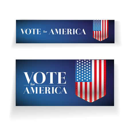 Vote for America banner or poster vector